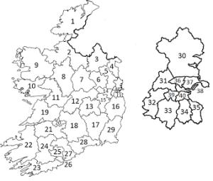 Dail constituencies